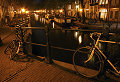 Bikes and canals by night