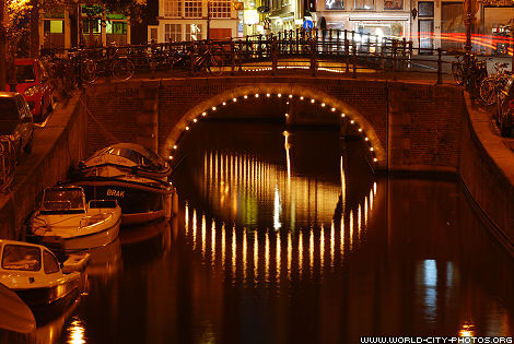 Bridges and canals by night