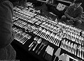 Black and white photos of Amsterdam: Albert Cuyp market