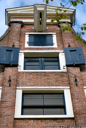Fronts of houses in Amsterdam