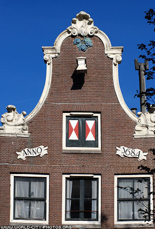 Building front in Amsterdam