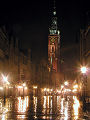 Night photo of Gdansk