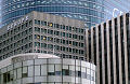 Europe high rise. Paris, La Defense lawyer offices, banks, apartments