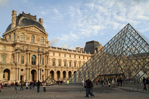 Pictures of the Louvre in Paris