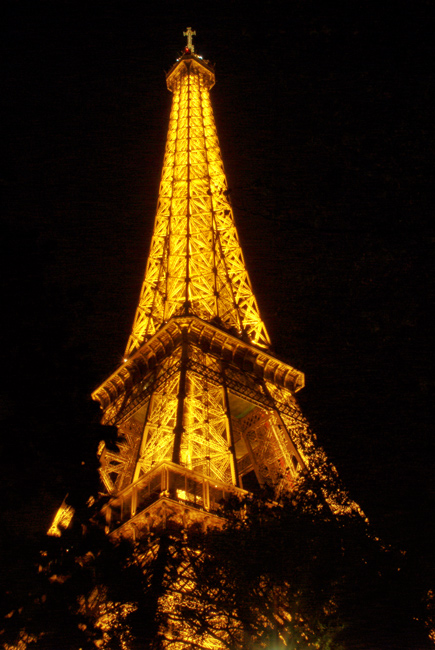 Eiffel Tower night in Paris