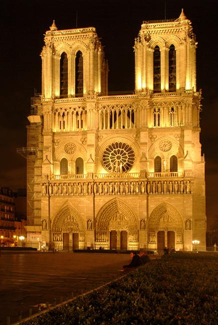 Notre Dame in Paris night photo