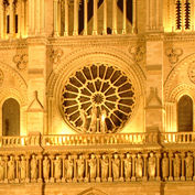 Notre Dame in Paris night photo