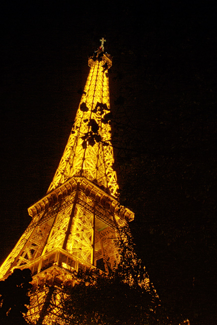 Paris by night the Eiffel Tower