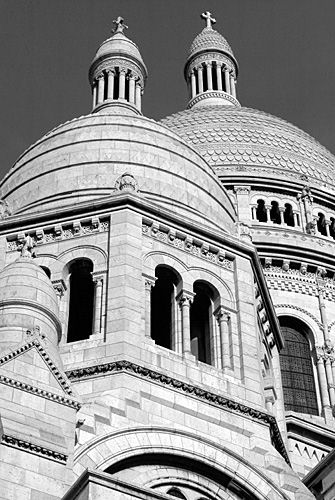 Basilica of the Sacre Coeur - Two towers - Paris Montmartre