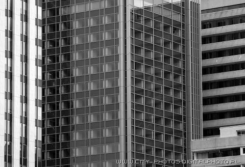 High rises in Paris - black and white images