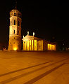 Vilnius by night Cathedral